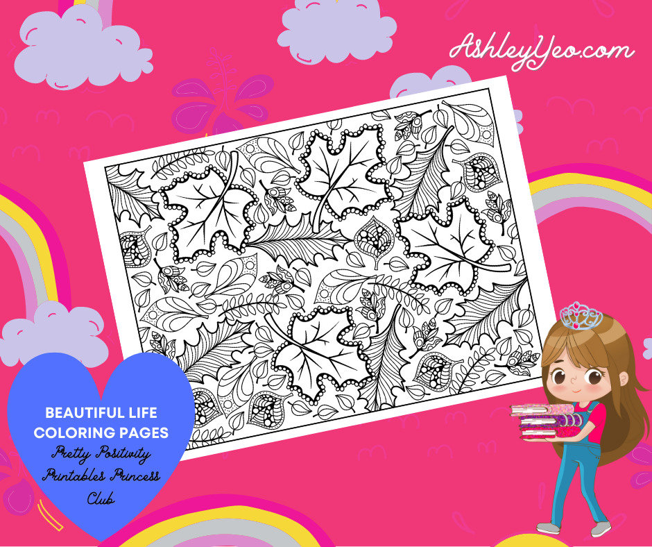 Beautiful Life Coloring Page 30