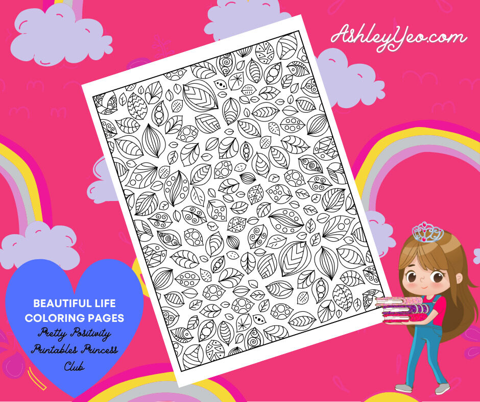 Beautiful Life Coloring Page 31