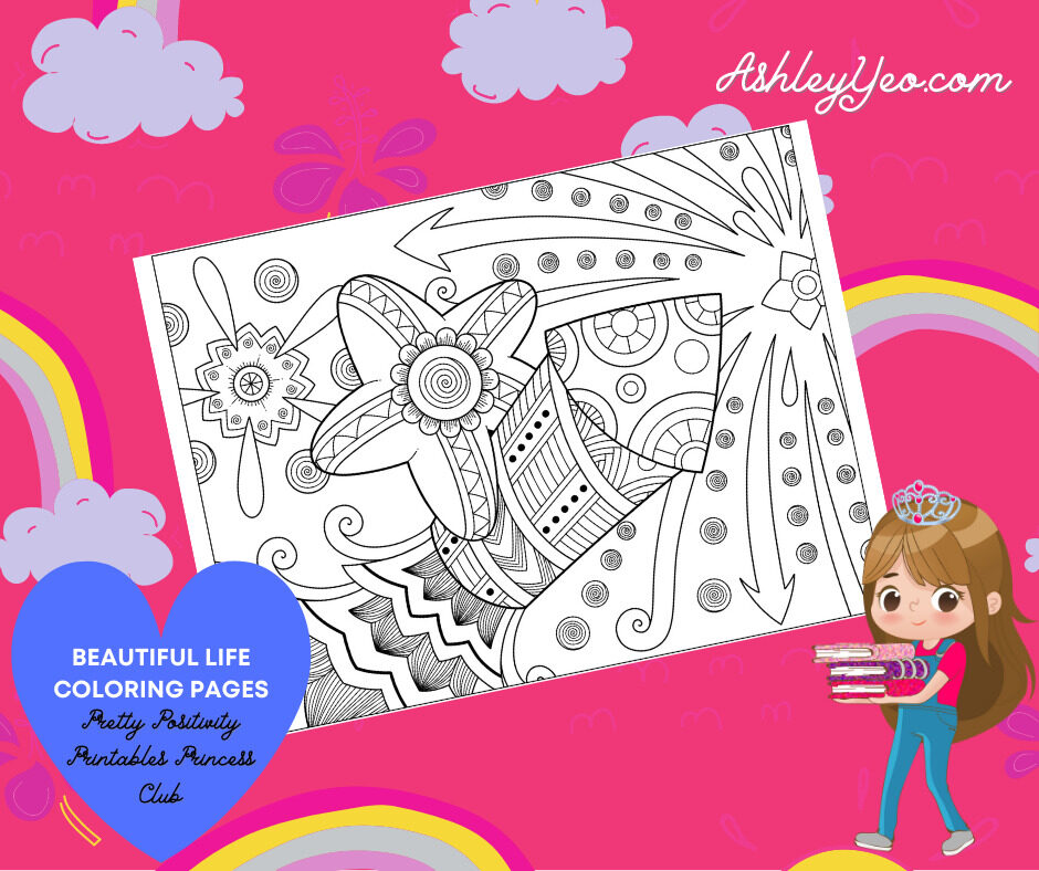 Beautiful Life Coloring Page 32