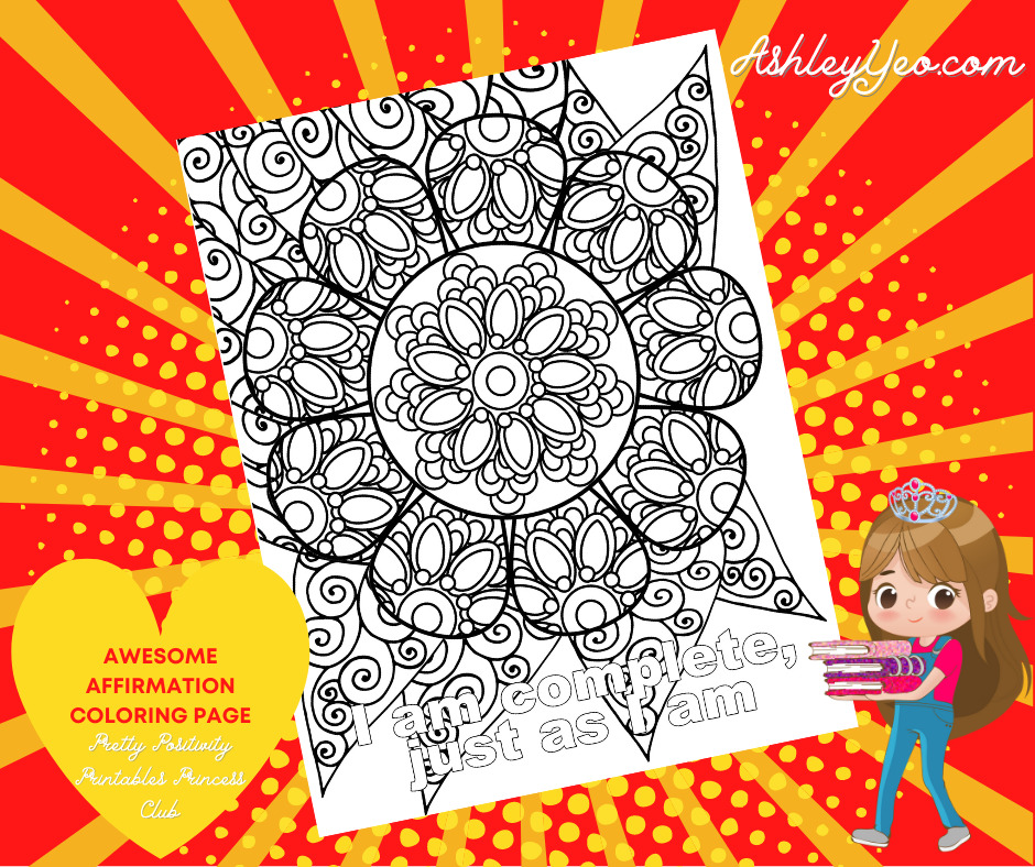 Awesome Affirmation Coloring Page 1