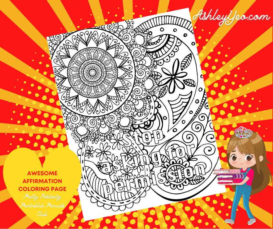 Awesome Affirmation Coloring Page 2