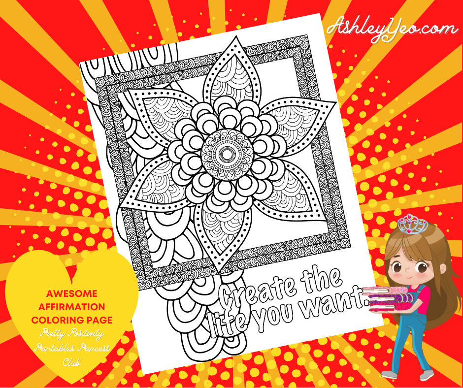 Awesome Affirmation Coloring Page 3