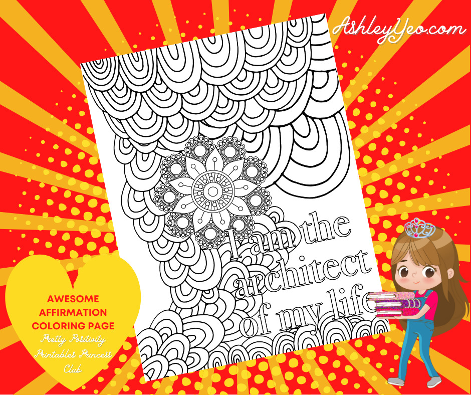 Awesome Affirmation Coloring Page 4