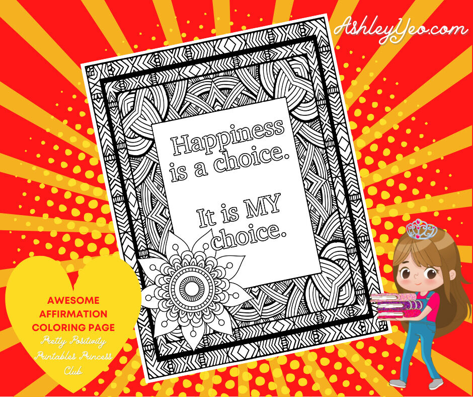 Awesome Affirmation Coloring Page 5