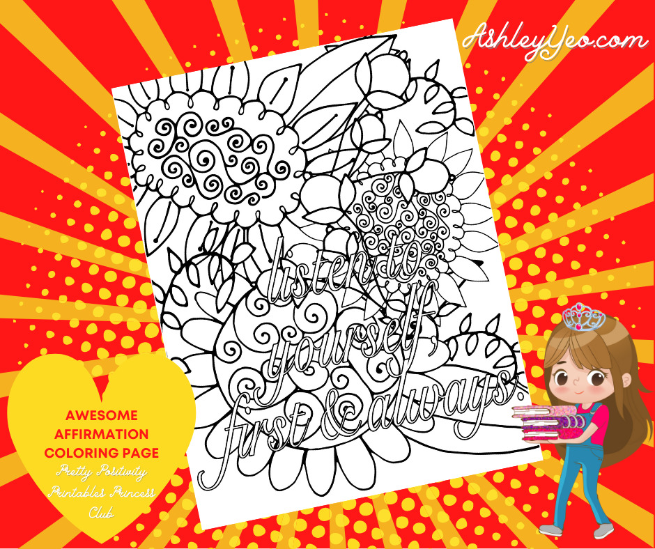 Awesome Affirmation Coloring Page 6