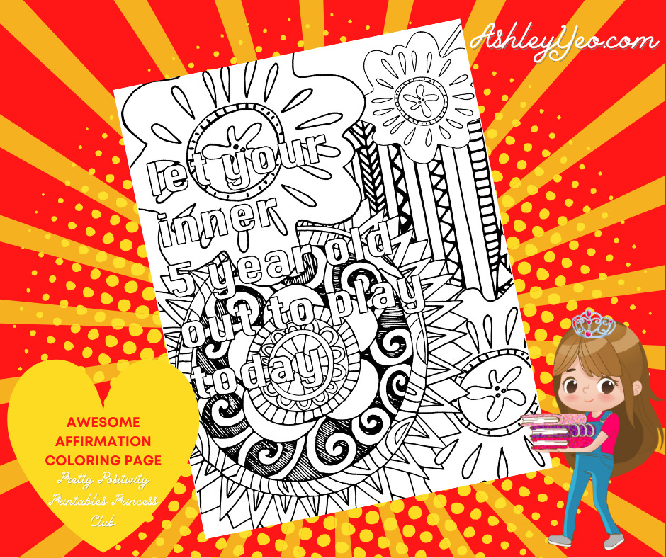 Awesome Affirmation Coloring Page 7