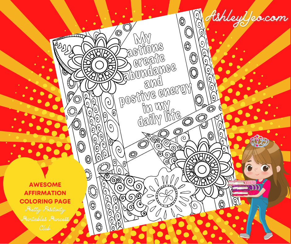 Awesome Affirmation Coloring Page 9