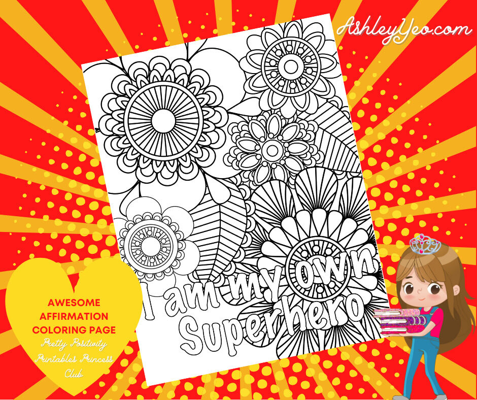 Awesome Affirmation Coloring Page 10