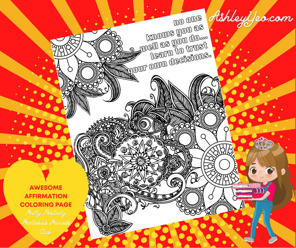 Awesome Affirmation Coloring Page 11