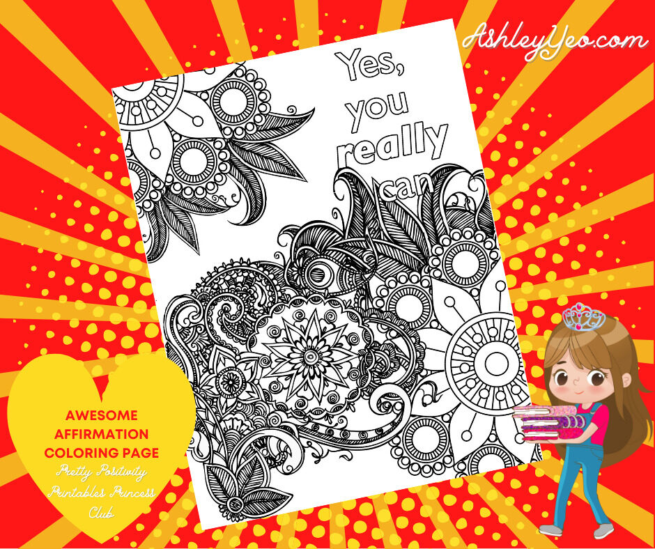 Awesome Affirmation Coloring Page 12