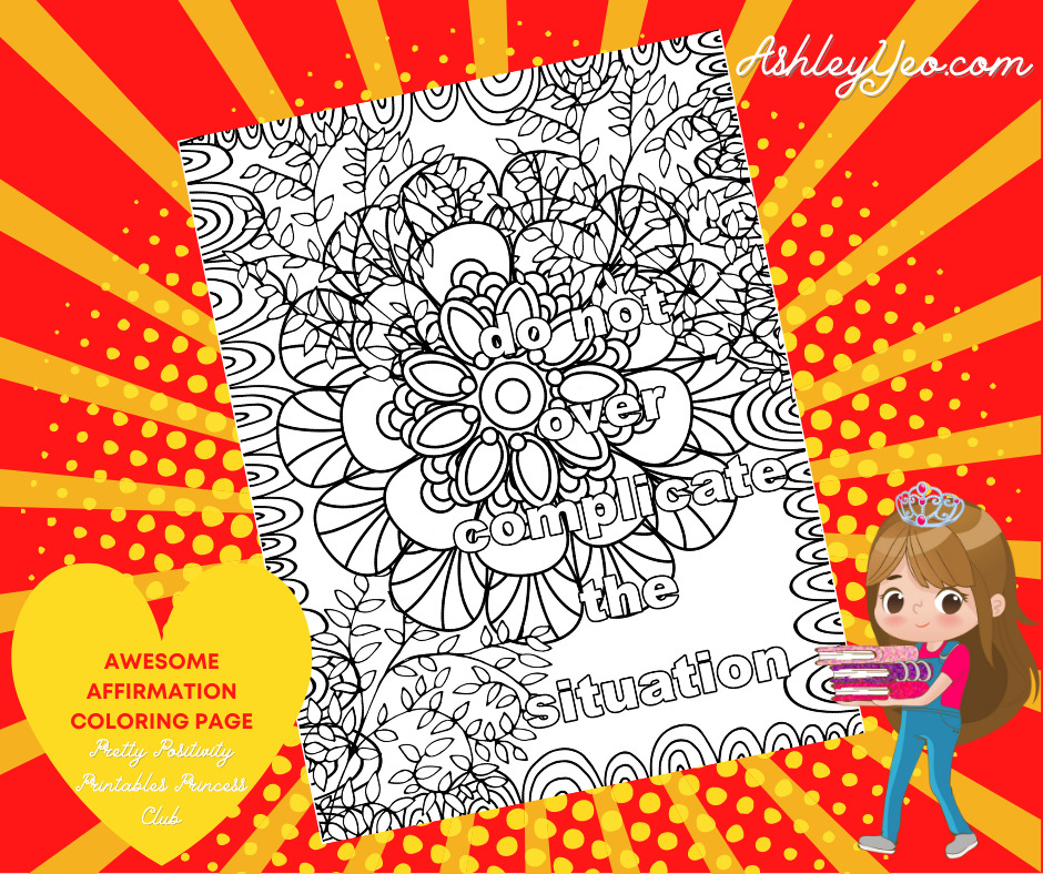 Awesome Affirmation Coloring Page 13