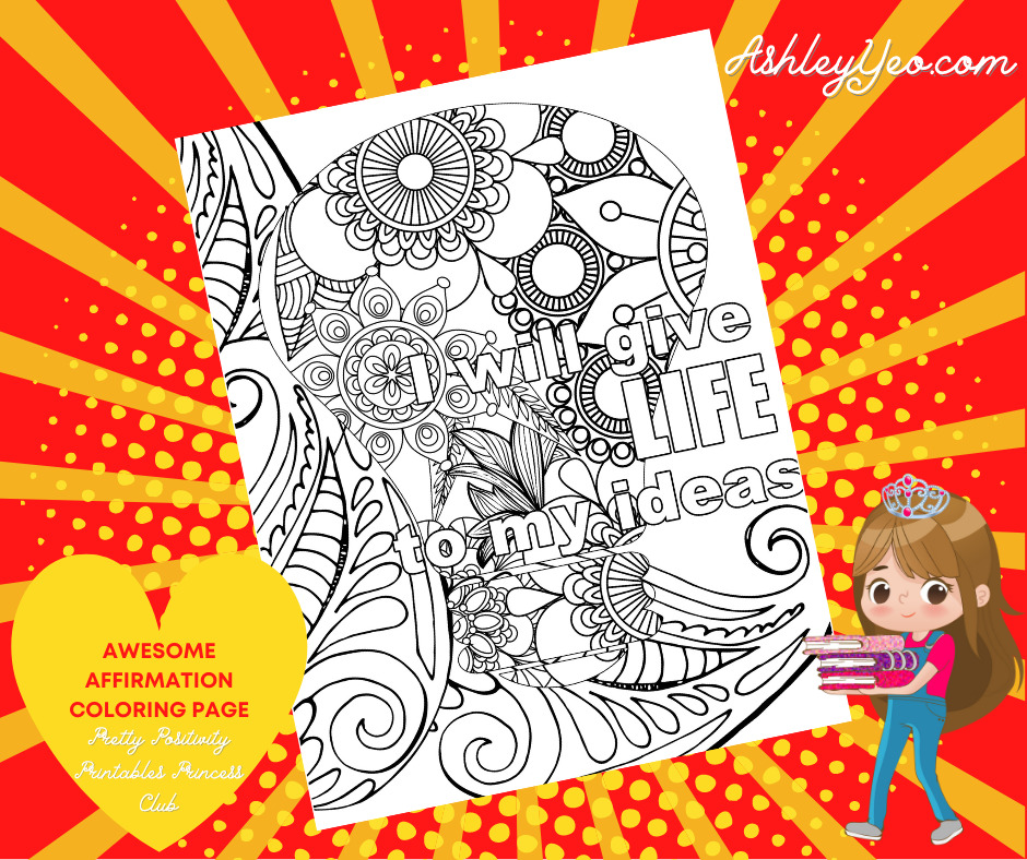 Awesome Affirmation Coloring Page 14