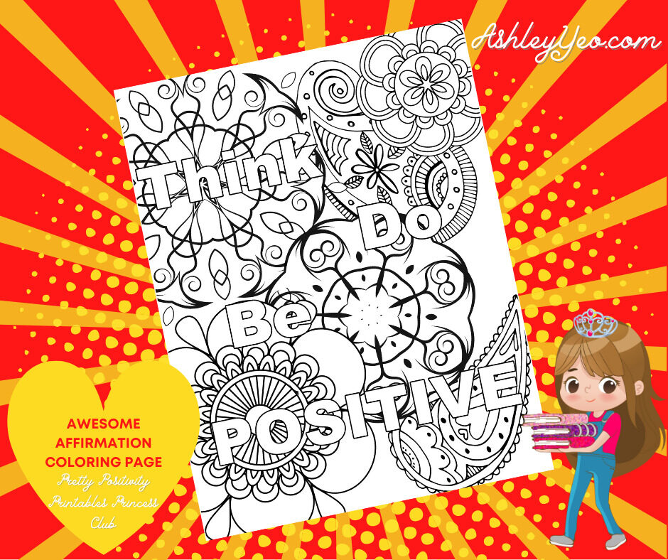 Awesome Affirmation Coloring Page 18