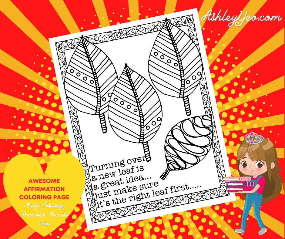 Awesome Affirmation Coloring Page 19
