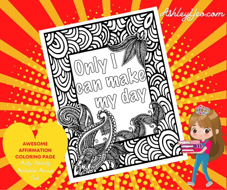 Awesome Affirmation Coloring Page 20