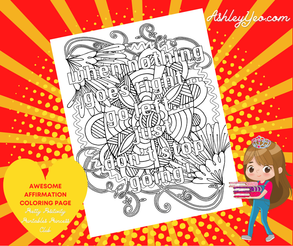 Awesome Affirmation Coloring Page 21