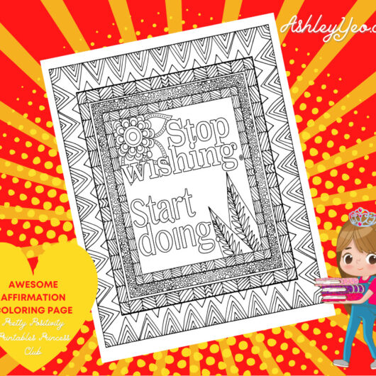 Awesome Affirmation Coloring Page 22
