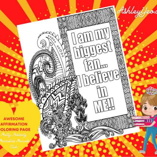 Awesome Affirmation Coloring Page 23