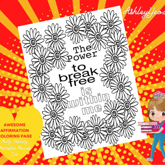 Awesome Affirmation Coloring Page 24