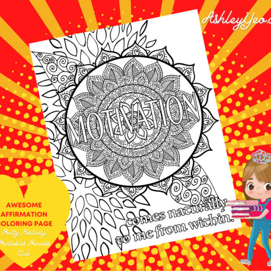 Awesome Affirmation Coloring Page 25