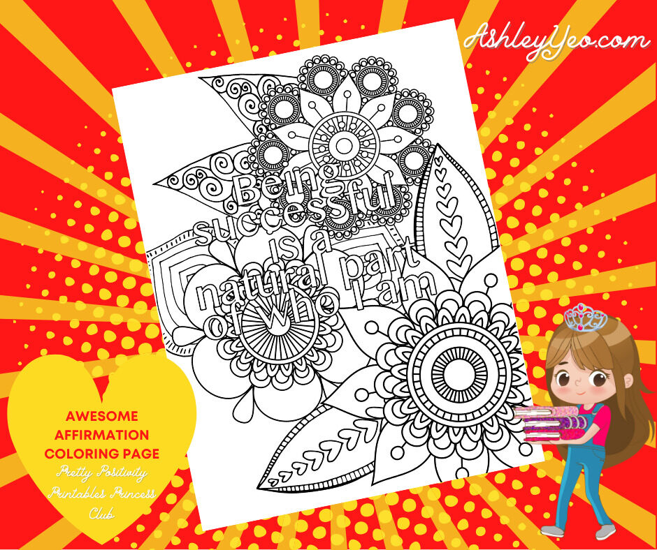 Awesome Affirmation Coloring Page 26