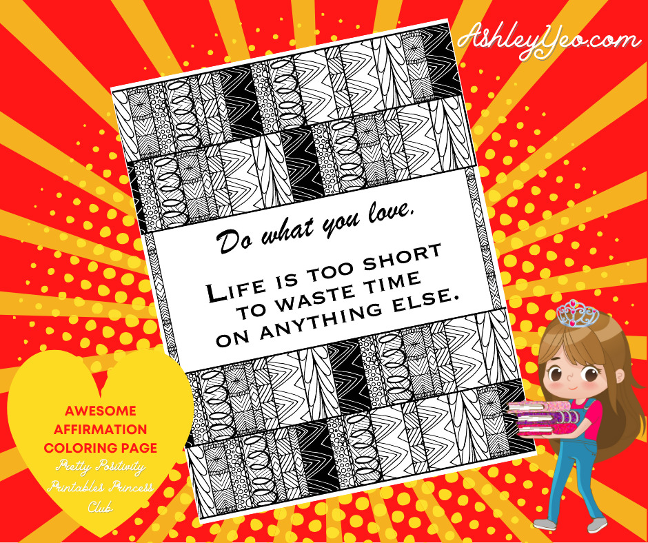 Awesome Affirmation Coloring Page 27
