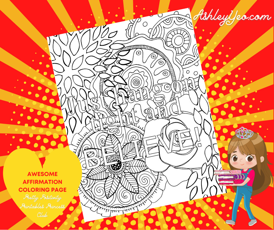 Awesome Affirmation Coloring Page 28