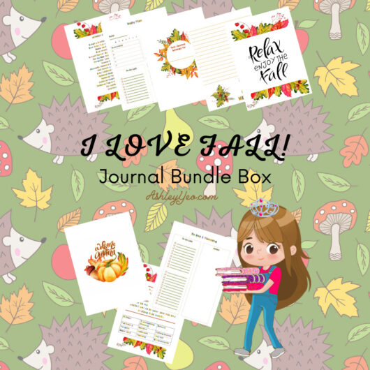 I Love Fall - October Printable Journal Pages, October Journal Prompts And October Writing Prompts Bundle Box Released!