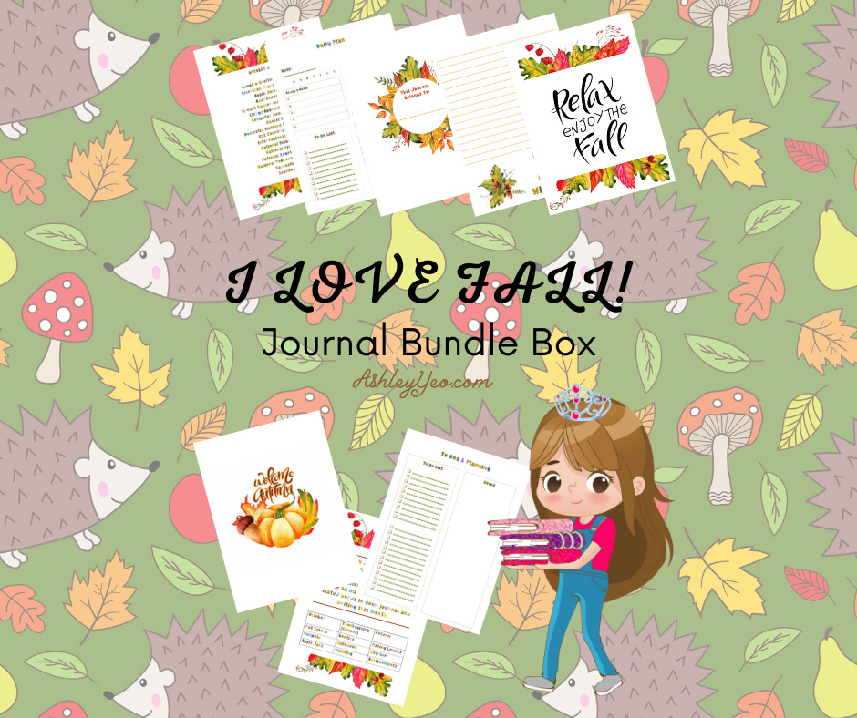 I Love Fall - October Printable Journal Pages, October Journal Prompts And October Writing Prompts FB