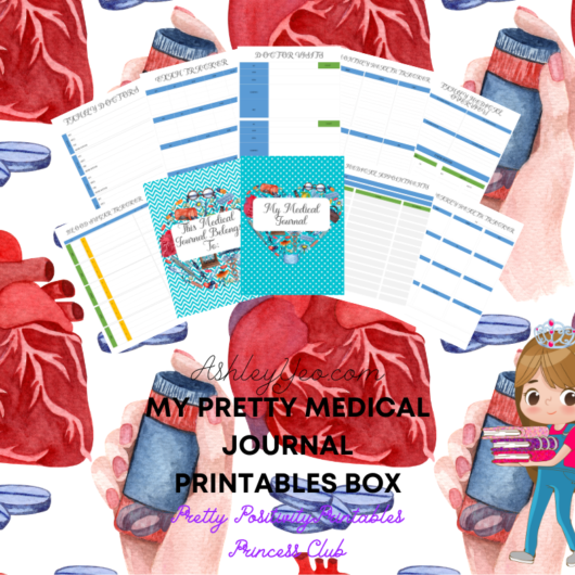 My Pretty Medical Journal Printables Box FB Mockup