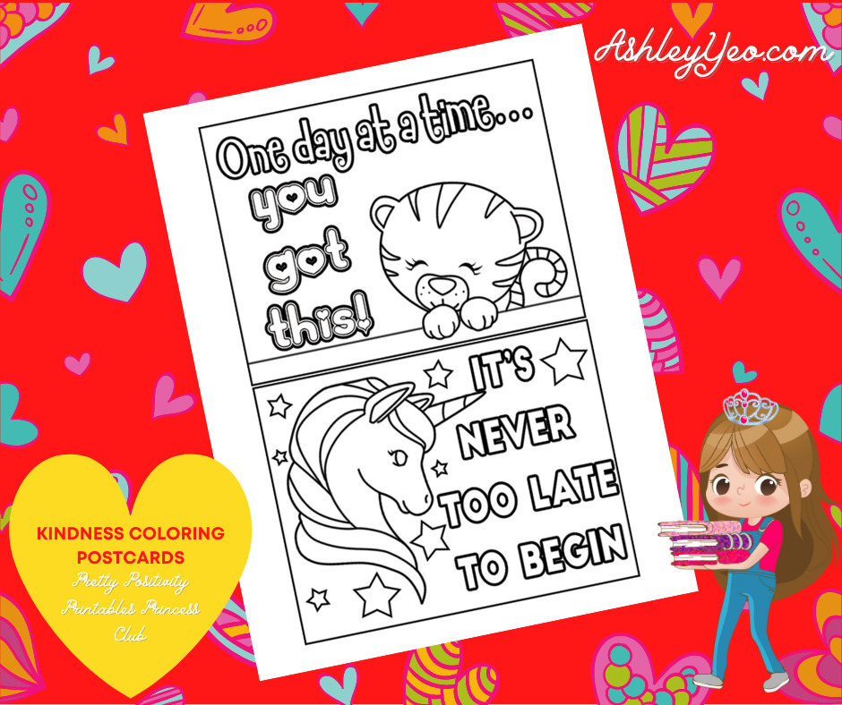Kindness Coloring Postcards 2