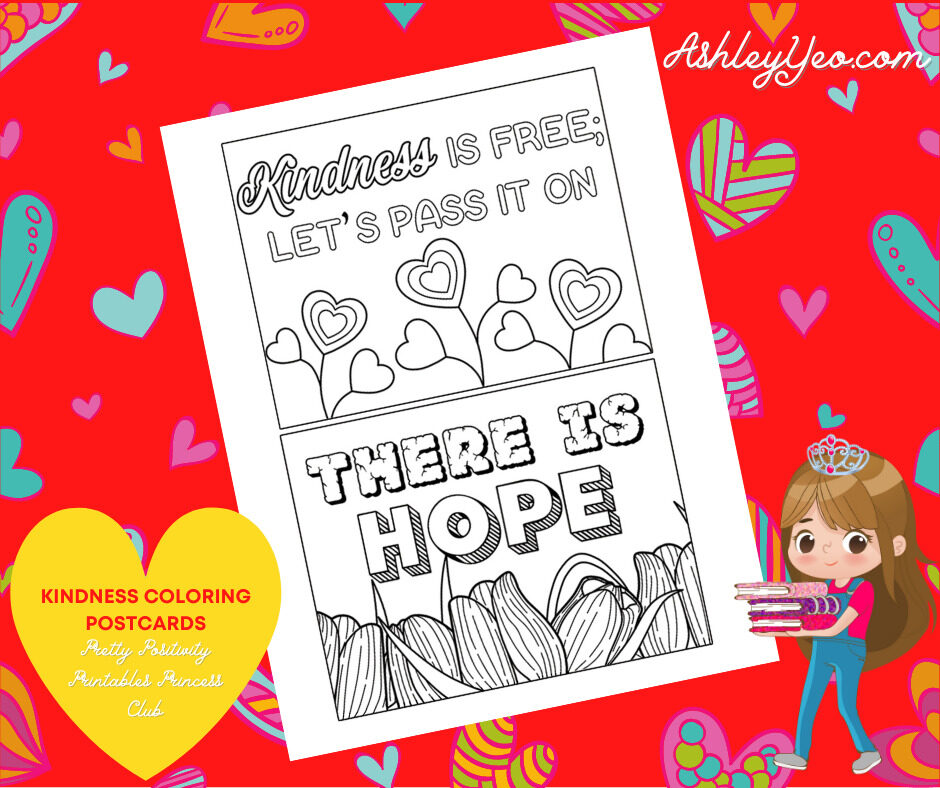 Kindness Coloring Postcards 3