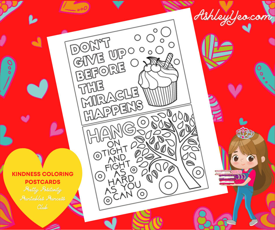 Kindness Coloring Postcards 4