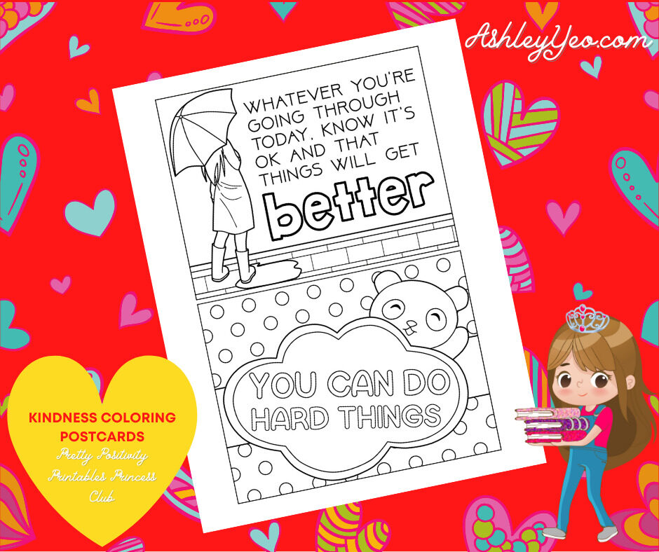 Kindness Coloring Postcards 5