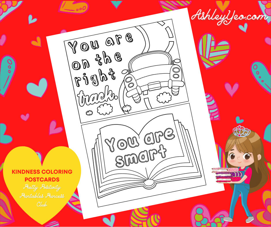 Kindness Coloring Postcards 6