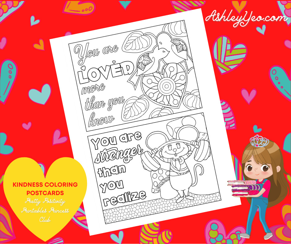 Kindness Coloring Postcards 7