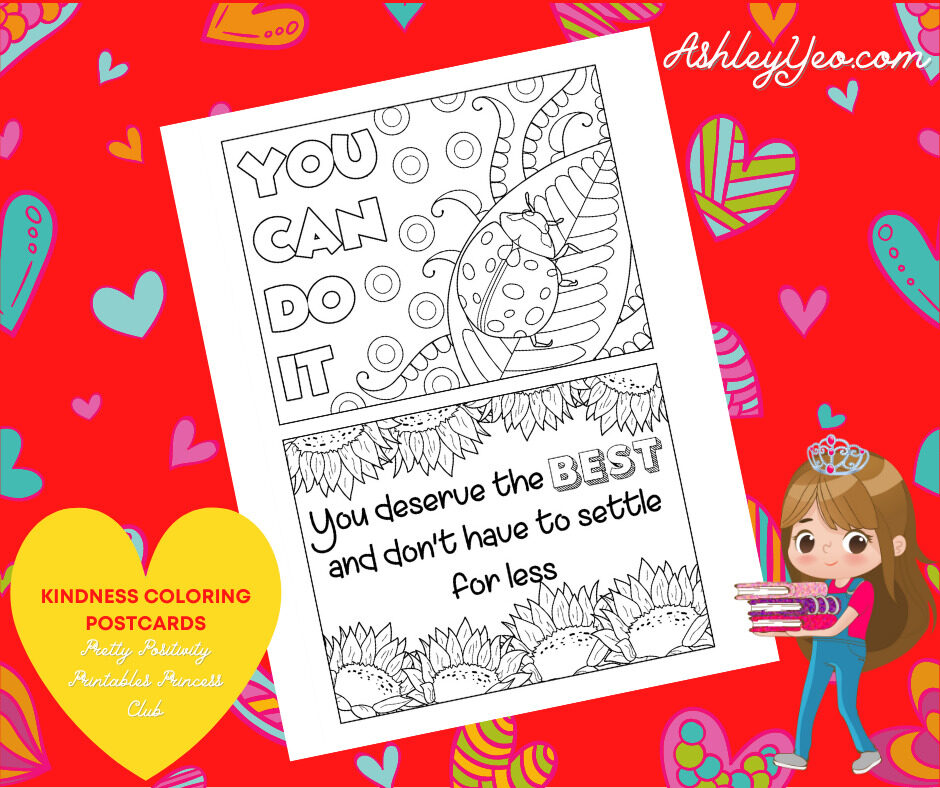 Kindness Coloring Postcards 8