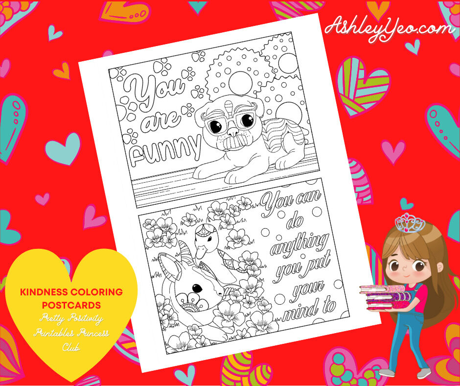 Kindness Coloring Postcards 9
