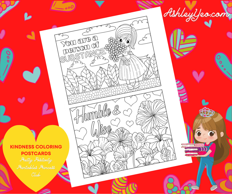 Kindness Coloring Postcards 10