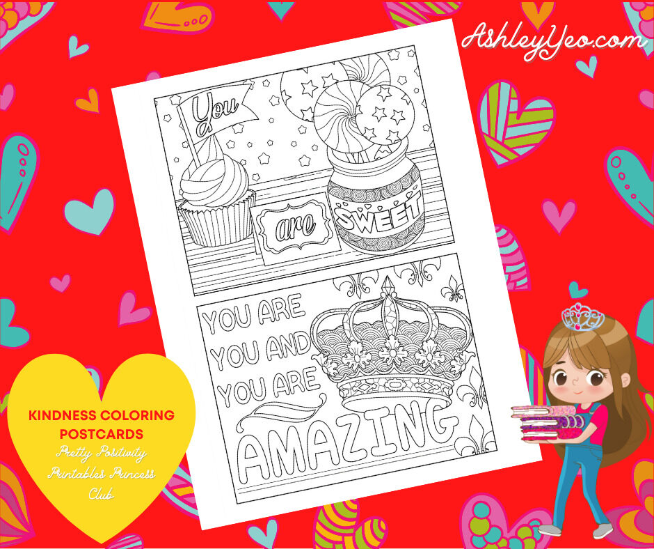Kindness Coloring Postcards 11