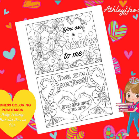 Kindness Coloring Postcards 12