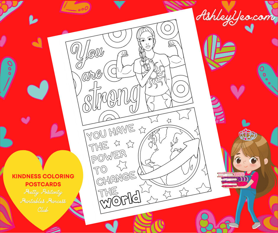 Kindness Coloring Postcards 13