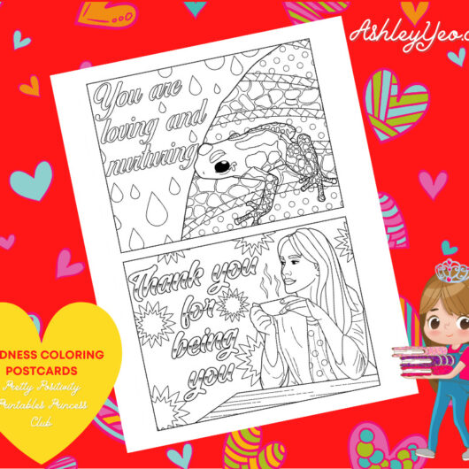 Kindness Coloring Postcards 14