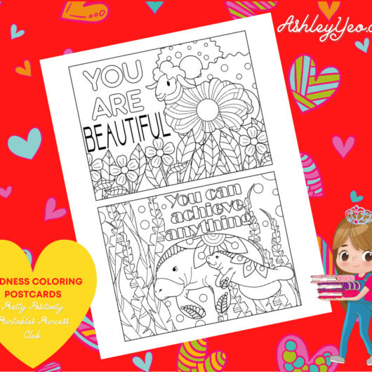 Kindness Coloring Postcards 15