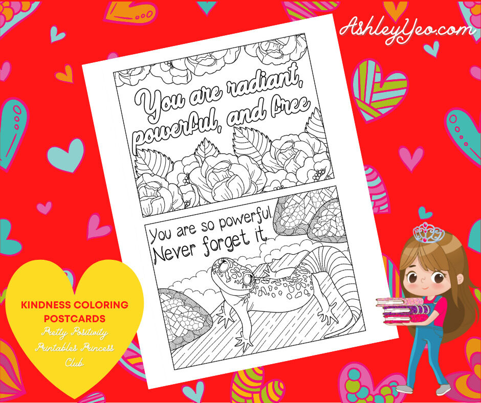 Kindness Coloring Postcards 16