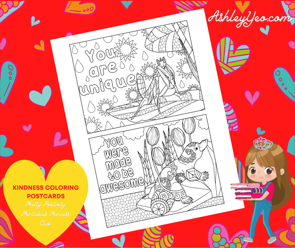 Kindness Coloring Postcards 17