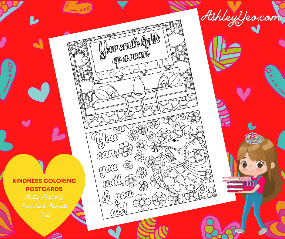 Kindness Coloring Postcards 18