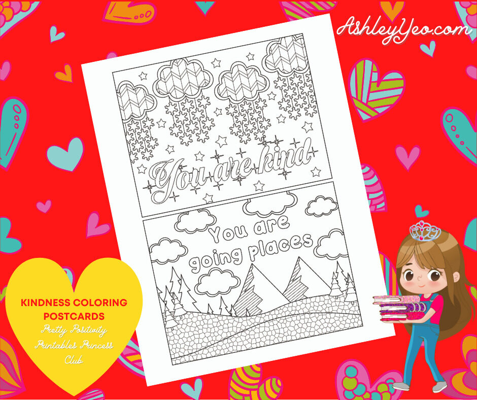 Kindness Coloring Postcards 19