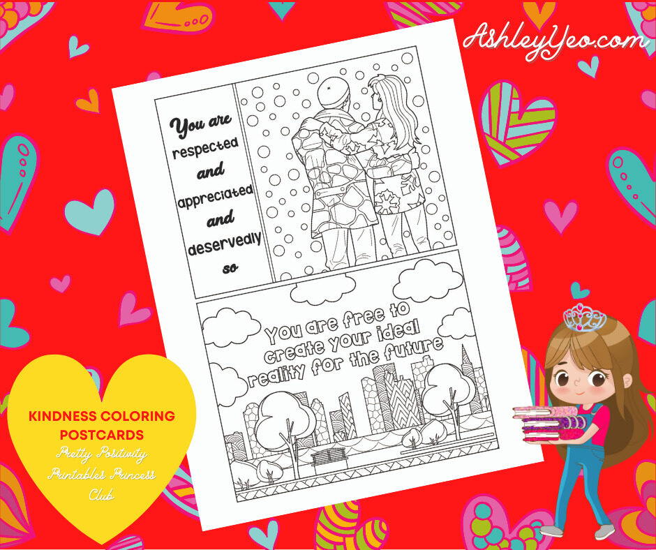 Kindness Coloring Postcards 20