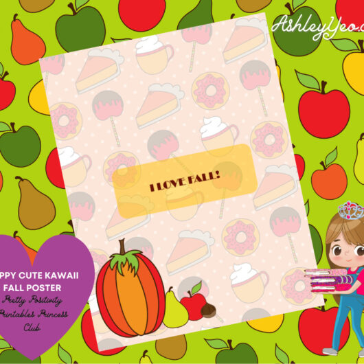 Happy Cute Kawaii Fall Poster 2